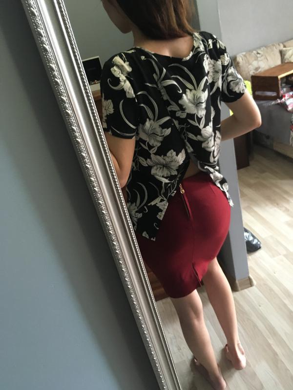 Стильна блуза з відкритою спиною ZARA d8c907abe1b11