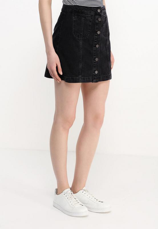 eab9c33db53 Джинсова спідниця чорна джинсовая юбка черная с заклепками cooperative