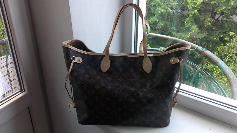 3bcd24ef4f7e Комбинированная сумка louis vuitton monogram neverfull gm tote bag m401571  фото ...