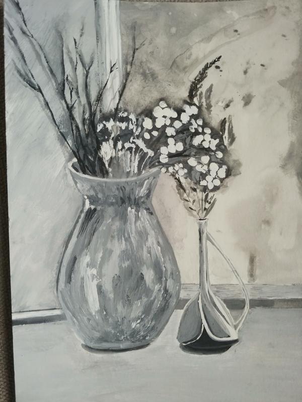 Картина авторская черно белая натюрморт интерьерная Ручная Работа, цена - 250 грн, #55928387, купить по доступной цене | Украина - Шафа