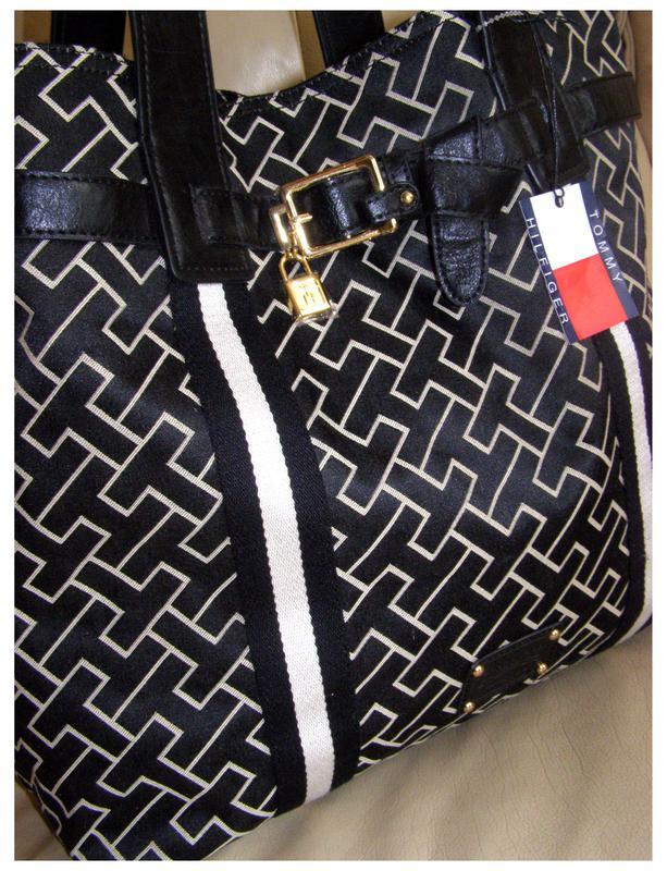 04727ff2a374 Vip большая текстильная сумка шоппер – tommy hilfiger - новая1 фото ...