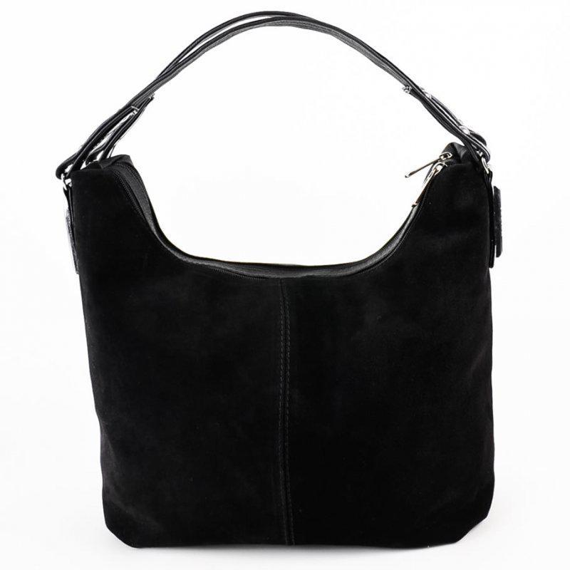 4ffbf1813e27 Черная замшевая женская сумка шоппер на плечо, цена - 620 грн ...
