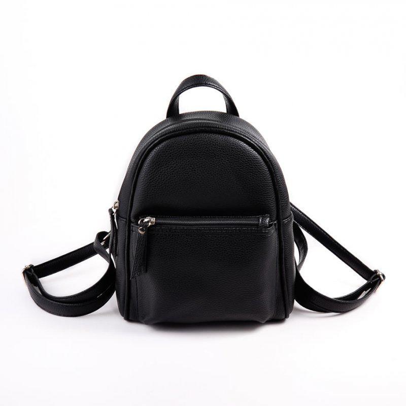 2021159779e9 Черный маленький рюкзак женский молодежного типа матовый на плечо1 ...