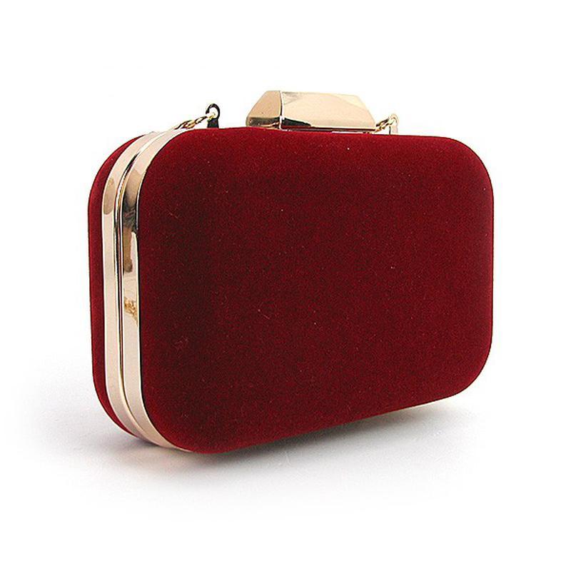 Красный вечерний замшевый клатч бокс на цепочке, цена - 458 грн ... 5c470fd98c4