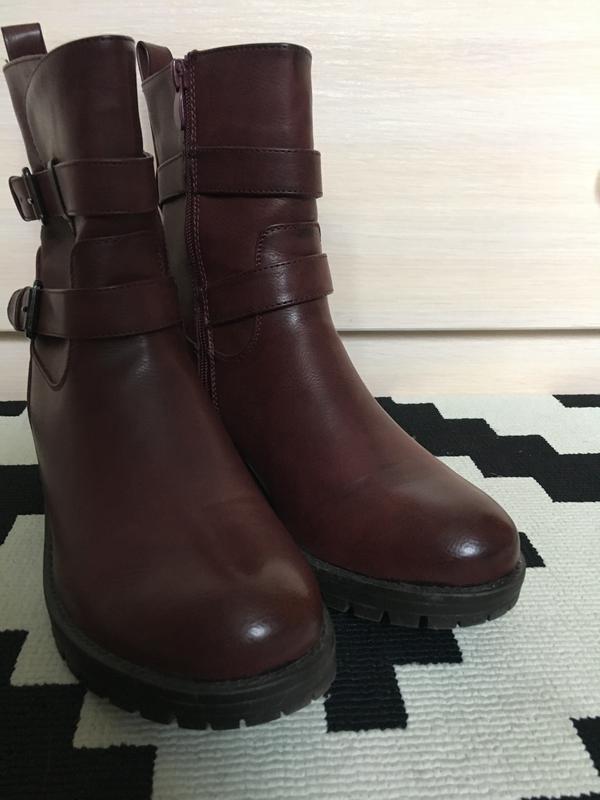 0ac119e4 Женские ботинки ,осенние ботинки ,ботинки на низком  каблуке,полусапожки,сапоги1 фото ...