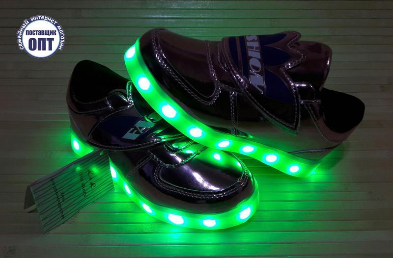 Кроссовки для девочки со светящейся led подошвой с usb кабелем 281 ... a2e6de236b6
