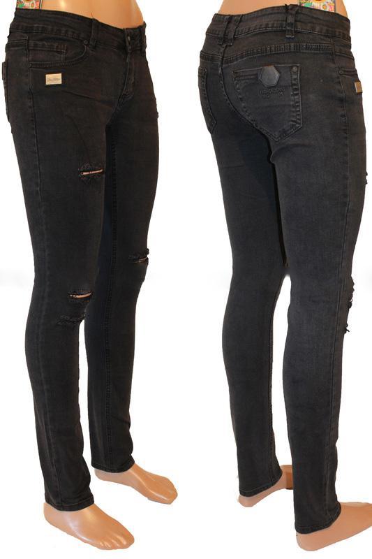 31735623d37 Джинсы женские черные рваные new jeans р25-301 фото ...