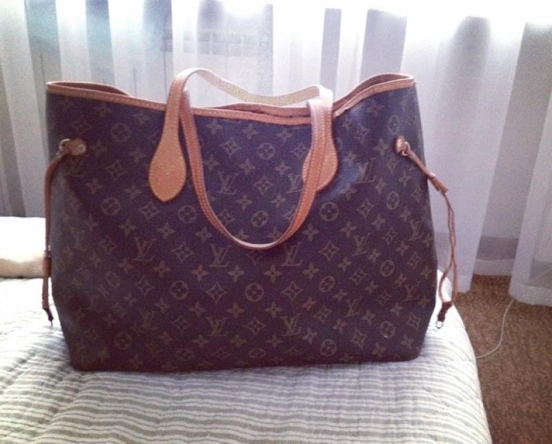 b19ebac00f63 Сумка louis vuitton lv neverfull monogram кожа франция Louis Vuitton ...