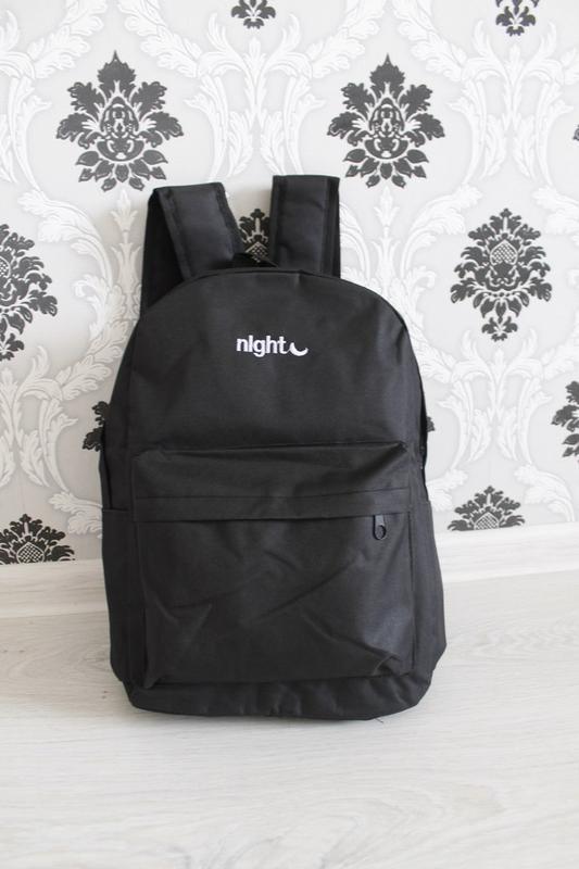 031985bd52cb Черный женский рюкзак с надписью night, цена - 300 грн, #6703295 ...