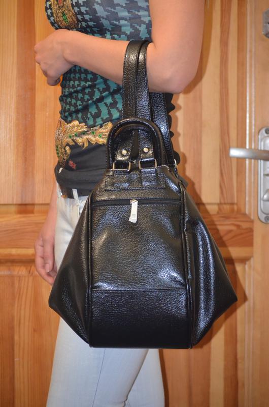 85eb50fa2648 Черная матовая женская сумка-рюкзак трансформер на плечо, цена - 620 ...