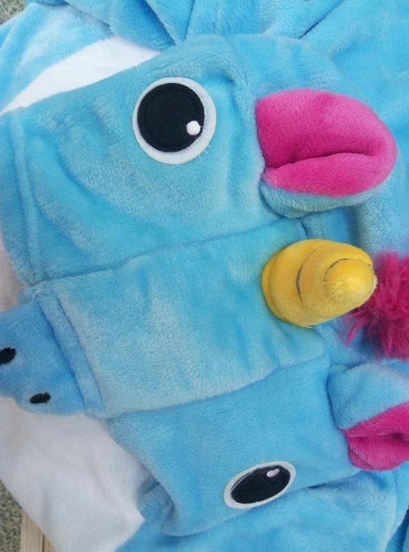 Кигуруми пижама голубой единорог к0181 ... b7ae227c9f273