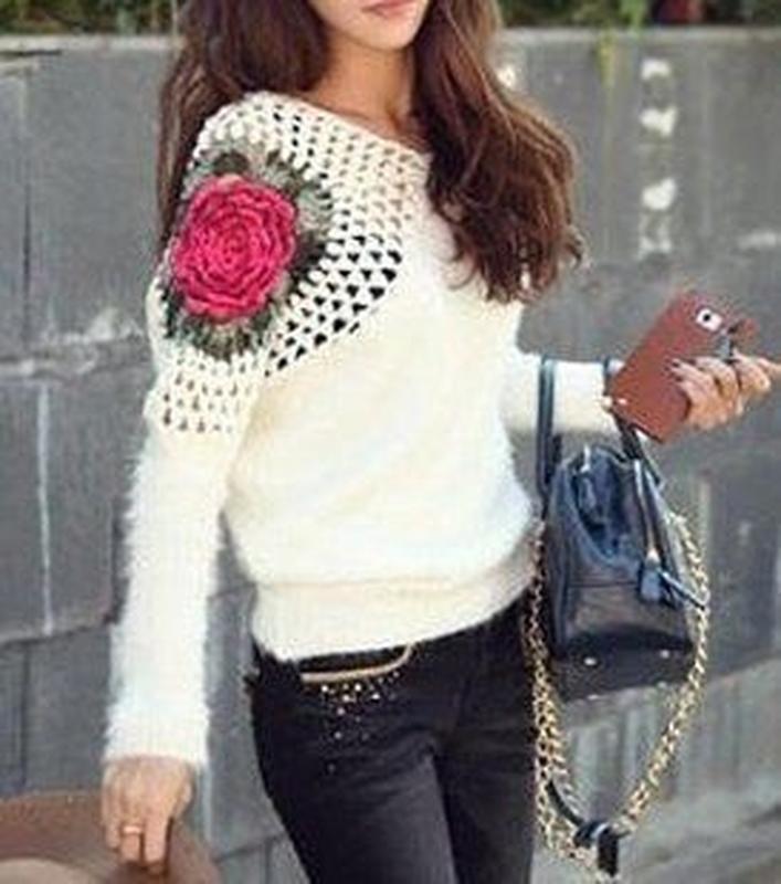 москве вязаные кофты с цветком на рукаве фото наутиз гадании