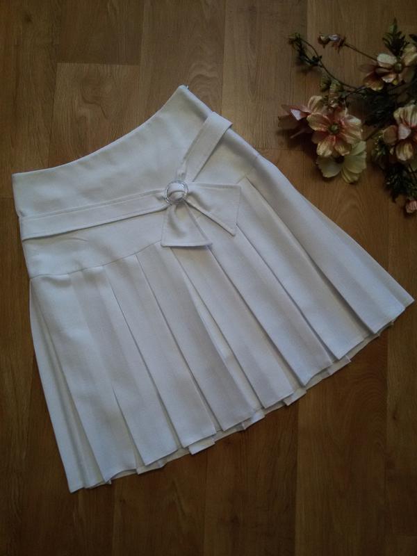 Белая юбка в складку купить
