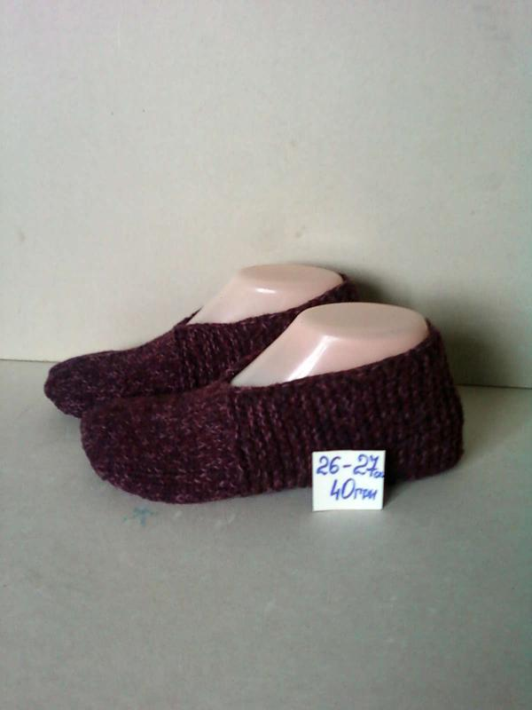 тапки тапочки вязаные следки чешки носки шкарпетки мешти полушерсть