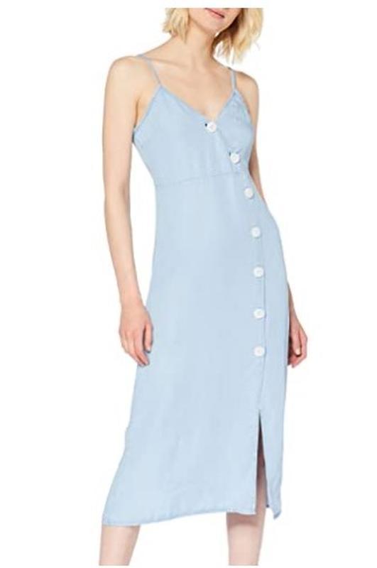 Актуальное голубое платье на крупных пуговицах из тонкого джинса pimkie Pimkie, цена - 220 грн, #57814118, купить по доступной цене | Украина - Шафа