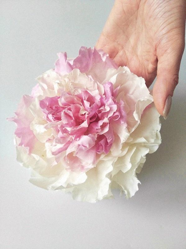 большие цветы из ткани купить