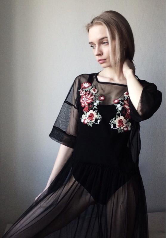 Платья из сетки с вышивкой купить
