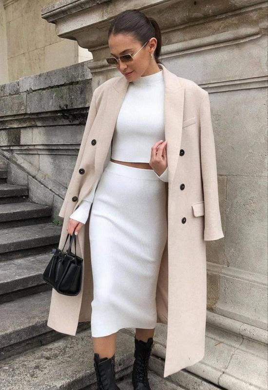 Шерстяное базовое пальто zara оригинал! в наличии!! ZARA, ціна - 1950 грн, #58094762, купить по доступной цене | Украина - Шафа