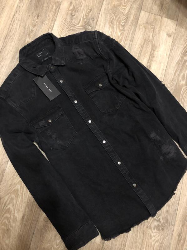 Мужская джинсовая куртка рубашка ZARA, цена - 650 грн, #58190148, купить по доступной цене | Украина - Шафа