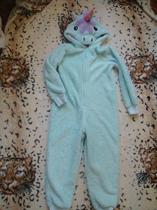 a8f8e60097f6e Теплый махровый слип пижама кигуруми \единорог\ 7-8 лет1 фото ...