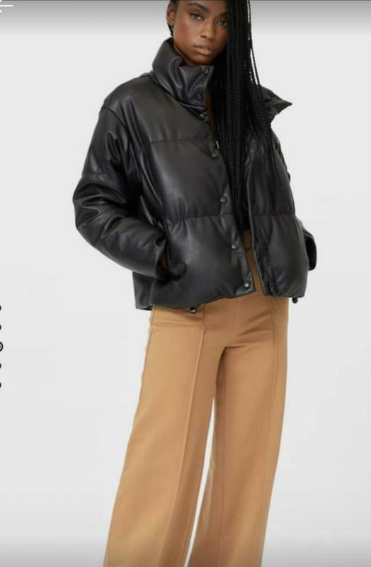 Куртка с эко кожи Stradivarius, цена - 1600 грн, #58655811, купить по доступной цене | Украина - Шафа