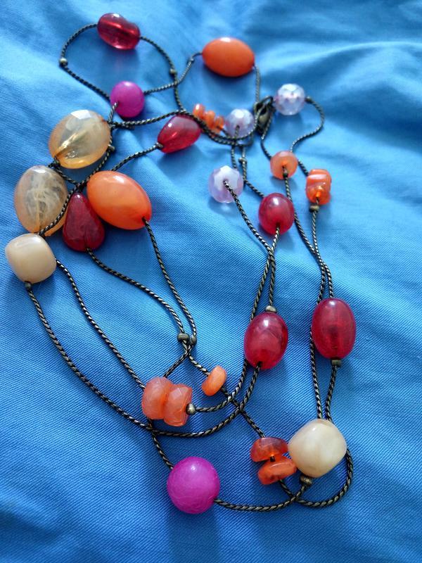 Разноцветные длинные бусы на цепочке в стиле chanel, французская бижутерия1  ... 03b427b2208