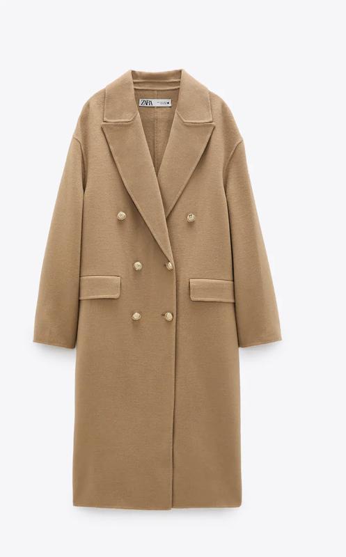 Бежевое пальто zara с золотыми пуговицами ZARA, ціна - 1900 грн, #59000874, купить по доступной цене | Украина - Шафа
