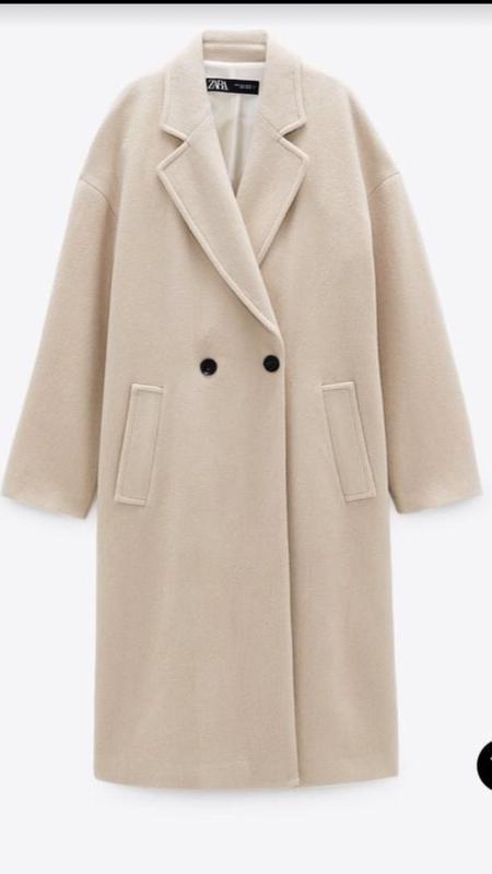 Хлопковое базовое пальто zara ZARA, ціна - 1790 грн, #59016251, купить по доступной цене | Украина - Шафа