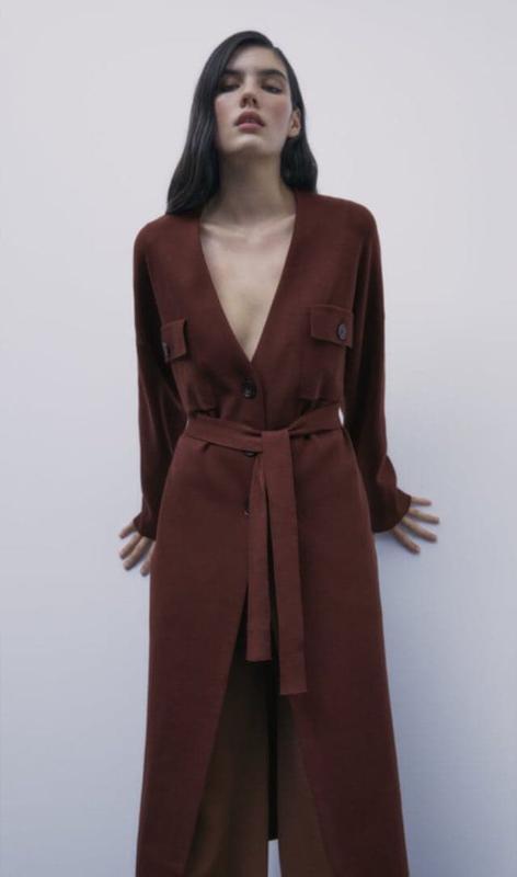Трендовое новое вязаное пальто миди кардиган тренч с поясом zara новая коллекция ZARA, ціна - 1200 грн, #59034070, купить по доступной цене | Украина - Шафа