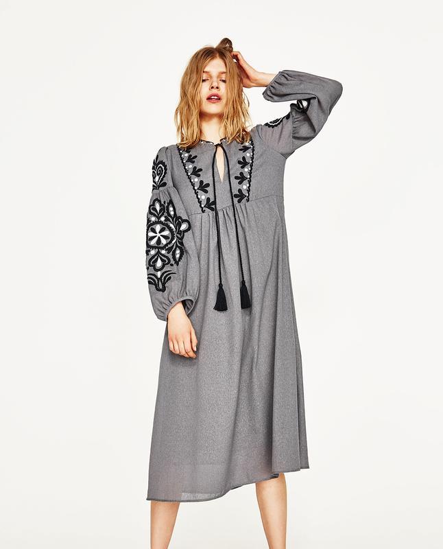 Платья с вышивкой 2017 купить