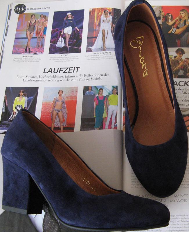 Nona! женские качественные классические туфли синего цвета взуття на каблуке  7 9a313044a2b26