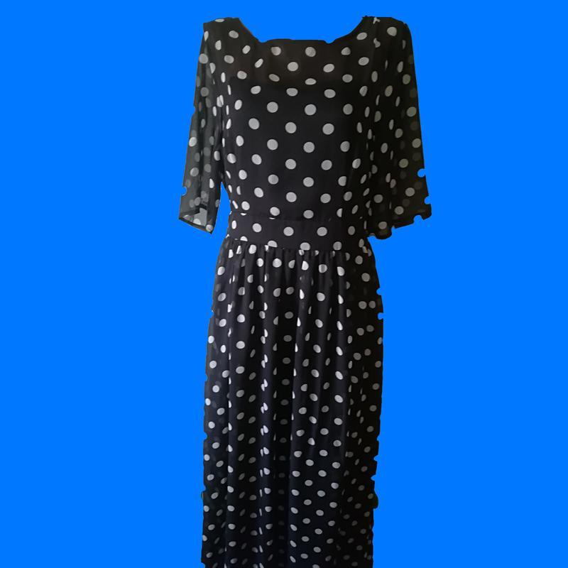 c125d9d8554 Длинное шифоновое платье в горошек clocolor америка Италия