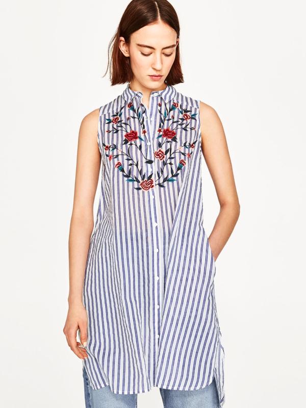 83259f7f1717 Платье -туника zara натуральный хлопок с вышивкой ZARA, цена - 500 ...