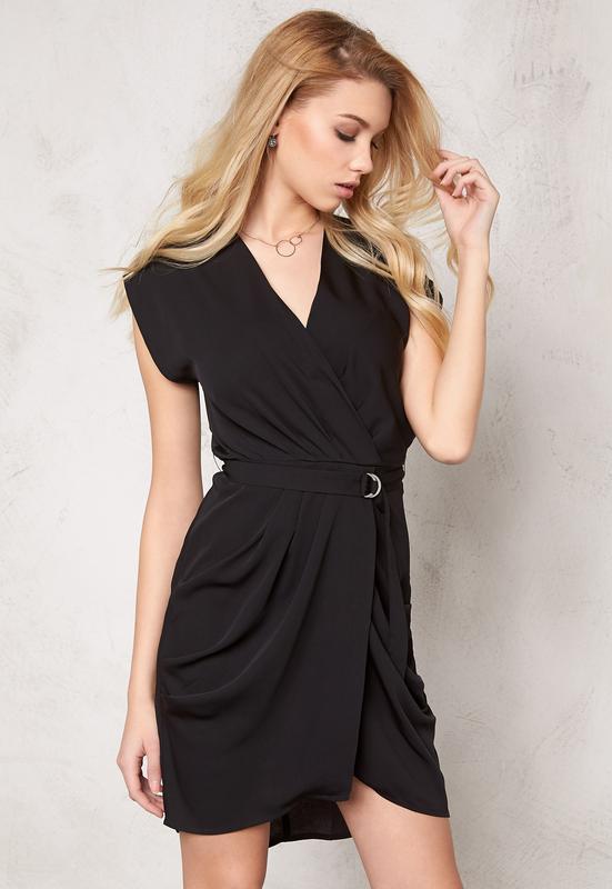 05cb96ac2013 Черное платье с вырезом декольте,драпировкой и запахом.xs s. Vero ...