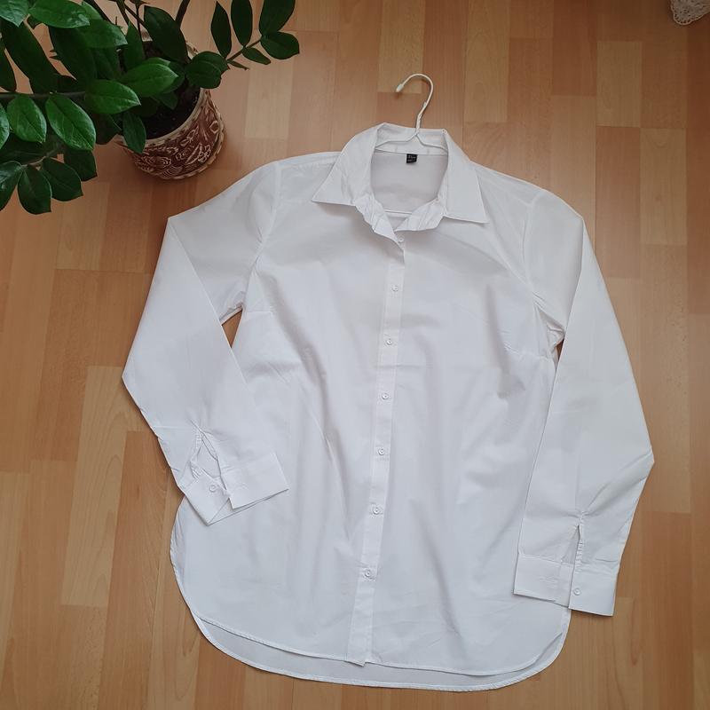 Белая базовая рубашка хлопок Турция, цена - 420 грн, #59670615, купить по доступной цене | Украина - Шафа