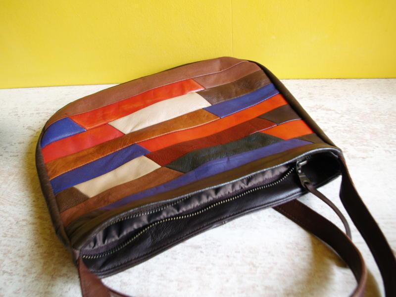 5554291c115b Разноцветная сумка из кусочков кожи. Ручная Работа, цена - 300 грн ...