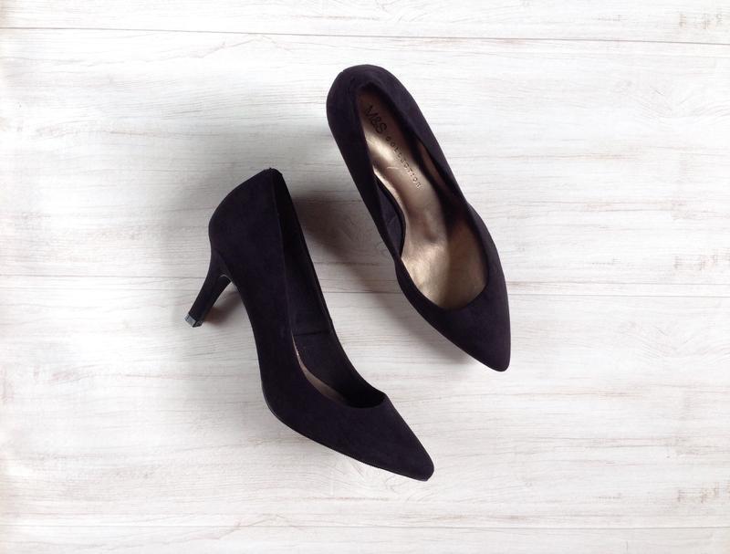 f2de50c54a0f Элегантные туфли лодочки m s 37 37,5 р 24 - 25 см черные на каблуках ...