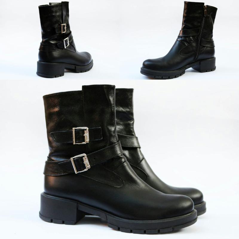 c4fe802b5 Новые кожаные зимние/ демисезонные женские сапоги 36 37 38 39 40 41 размер1  ...