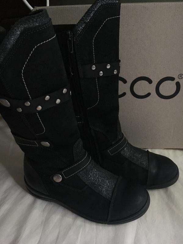 74ffac54625558 Подростковые зимние кожаные сапоги ecco Ecco, цена - 1700 грн ...