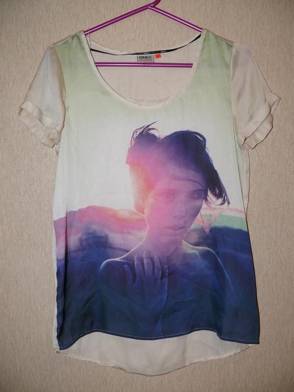 d9f1719c2f821 Стильная футболка с крутым принтом ONLY, цена - 90 грн, #7191529 ...