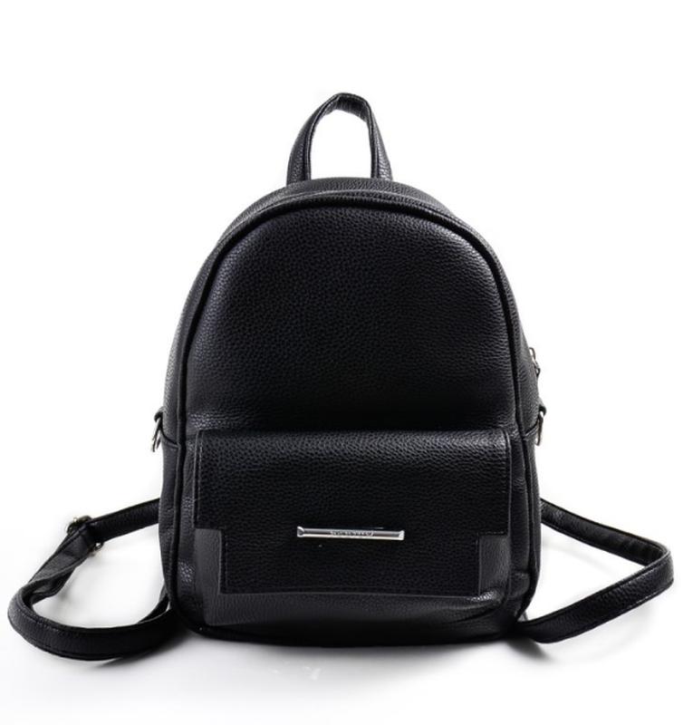 0346987c73a2 Женский черный рюкзак кожзам луцк, цена - 295 грн,  7264232, купить ...