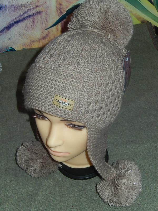 Классная зимняя шапка-ушанка 2aa2fcbc48ddd