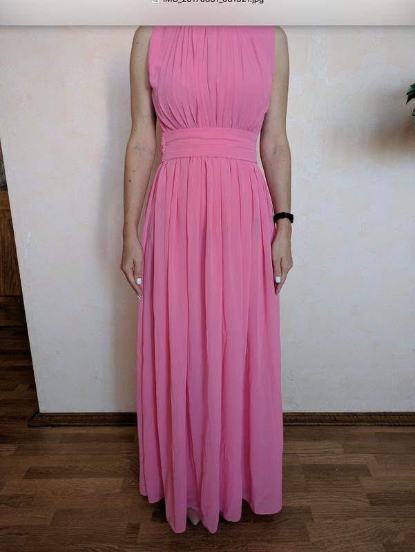 5fe152a1d04 Шикарное вечернее выпускное нежно-розовое шифоновое платье1 ...