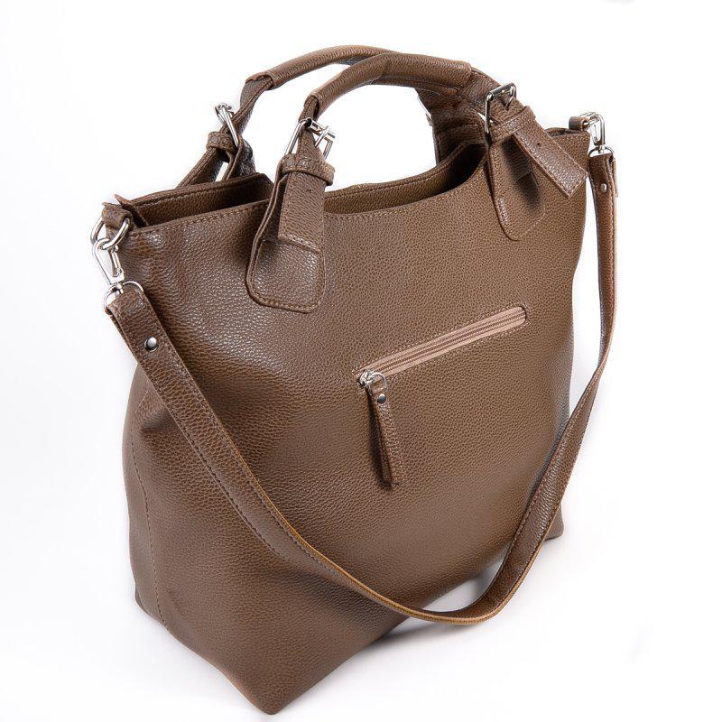 f52c46b4588d ... Женская сумка шоппер темная оливкового цвета мягкая матовая на плечо2  фото ...