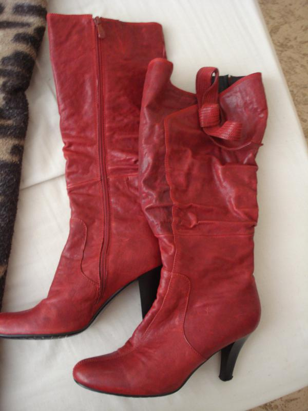 Мега круті червоні чоботи з бантиком1 ... 804a1a2725a70