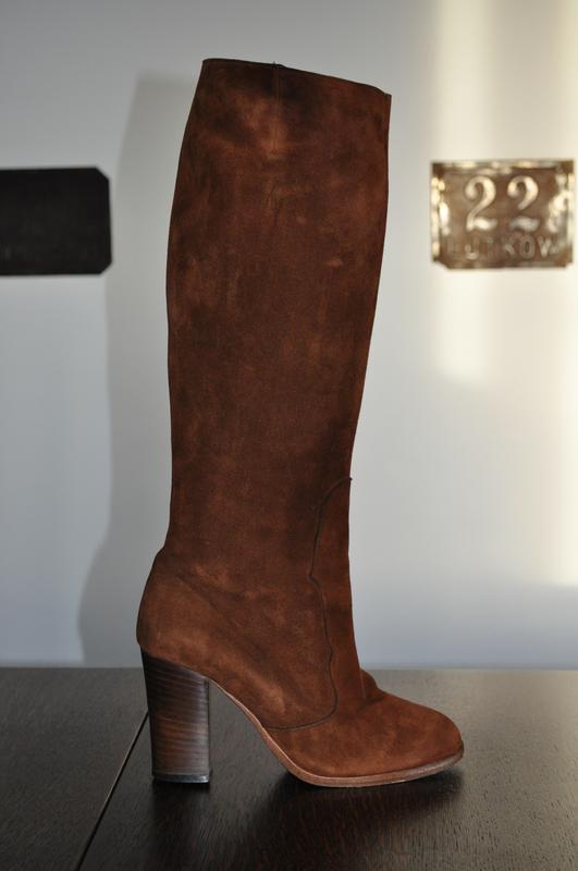 Італійські замшеві чоботи на каблуку!!1 ... 4b70a965e0271