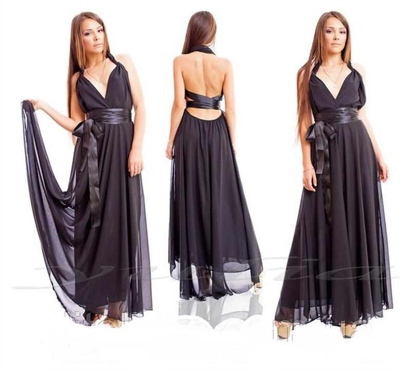 5c4dd1ca7c4 Шифоновое платье со шлейфом в пол1 ...