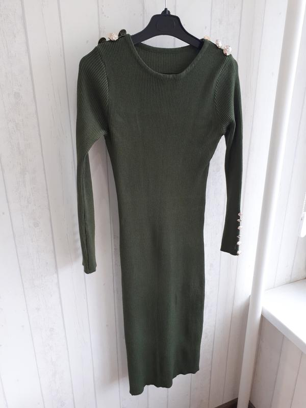 0cef430032f Бандажное платье цвета хаки.1 ...