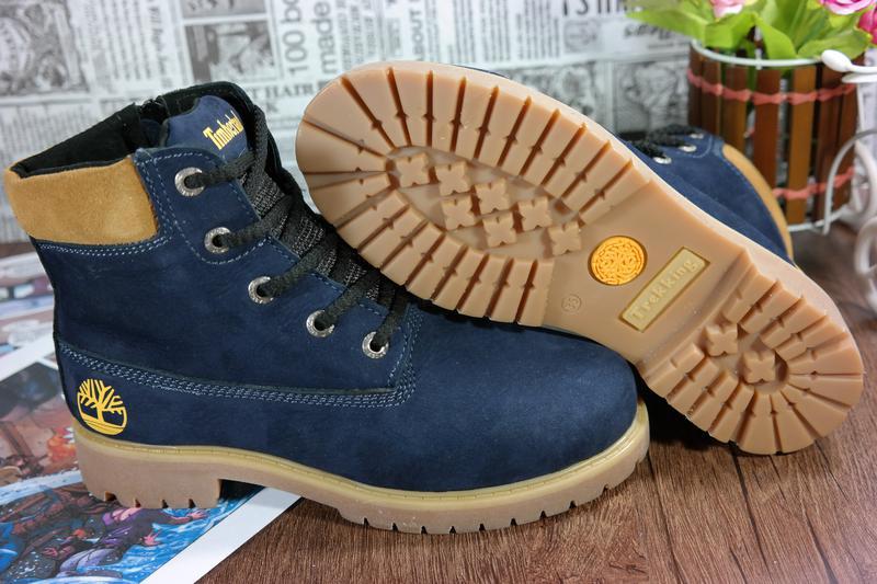 Шикарные зимние женские ботинки,натуральный нубук. timber... теплый мех 35-  ... b53e24bab20