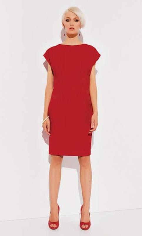 e5d1cd5b1c0 Красное платье футляр прямого кроя1 фото ...
